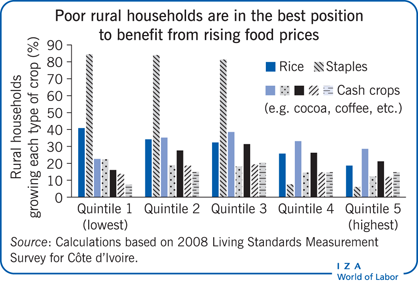 Poor rural households are in the best                         position to benefit from rising food prices