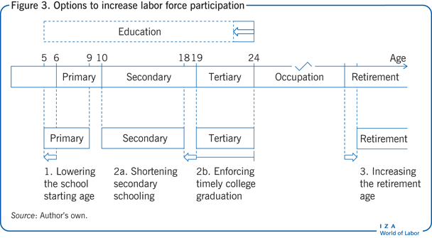Options to increase labor force                         participation