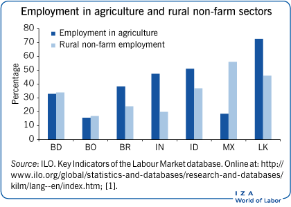 Employment in agriculture and rural                         non-farm sectors