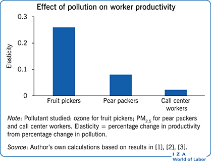Effect of pollution on worker                             productivity