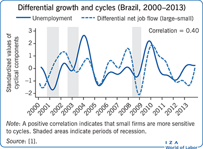 Differential growth and cycles (Brazil,                             2000–2013)