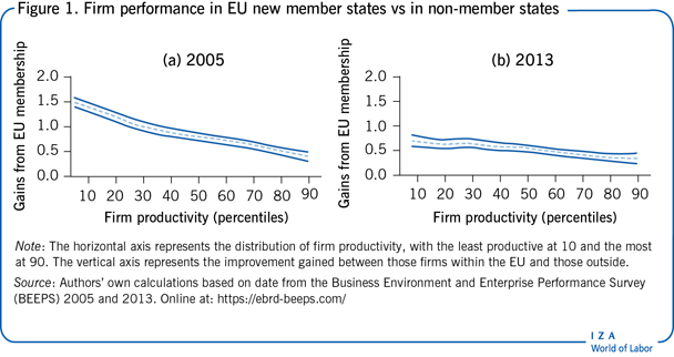 Firm performance in EU new member states vs in non-member states