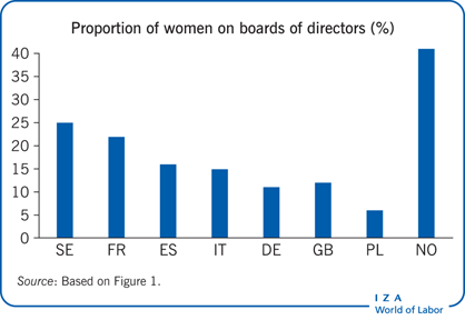 Proportion of women on boards of directors                         (%)