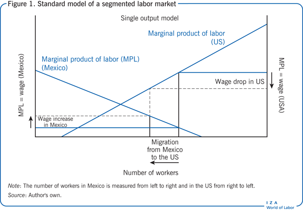 Standard model of a segmented labor                         market
